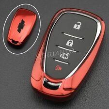 TPU Smart Key Fob Cover Case For Chevrolet Malibu Cruze Volt Traverse Camaro Red