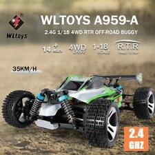 WLtoys A959-a 2.4g 1/18 Scale 4wd Electric RTR Off-road Buggy RC Car J6z1