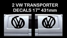 "Volkswagen VW Decal Extra Large 17"" logo Graphic X2 Transporter T5 T4 Campervan"