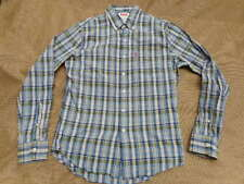 original LEVI'S LEVIS LEVI STRAUSS blue white green CHECK SHIRT red tab S small
