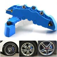 2× Blue Car Wheel Brake Caliper Cover Front Rear Disc Dust Resist Protection Set