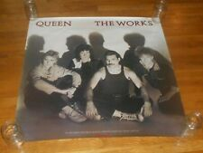 Queen the works 36 x 36 Promo Poster orig 1984 capitol records freddie mercury