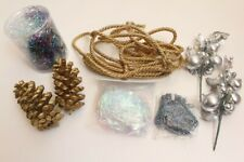 Christmas Decorations Pine Cone Cord String Icycles Table