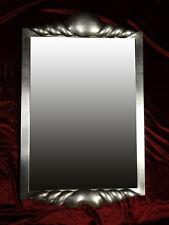 Espejo de Marco Florencia Pared Dorado Madera 90x56 cm Kristall-Form