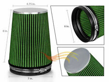 "6"" inch Inlet Air Intake Cone Dry Universal Green Large Filter Car/Truck/SUV"