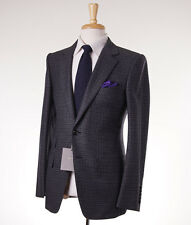 NWT $5700 TOM FORD 'Buckley' Gray Check Wool-Cashmere Suit Slim 38 R (Eu 48)