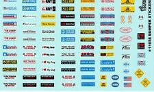 BUMPER STICKERS SCREEN-PRINTED 1/25th - 1/24th Scale  WATERSLIDE DECAL 11058