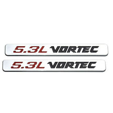 2pcs Chrome 5.3L VORTEC Emblem Badge For Chevy Silverado Sierra GM Decal Sticker