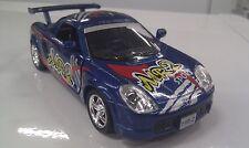 TOYOTA MR2 Blu KINSMART auto giocattolo modello 1/32 Scala pressofuso AUTO