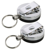 2X Outdoor EDC Telescopic Spring Keyring Key Chain Key Ring Tool Kit for Keys