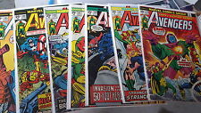 Avengers Comic lot of 161 129-402 condition ranges from VG-VF+ bag boarded