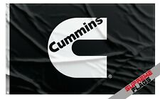 Cummins Flag Banner 3x5 Turbo Diesel Garage Man Cave Black
