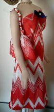 """Red & White Dress & Matching Handbag 16"""" For Tyler, Sydney, Gene, Or Deja Vu"""