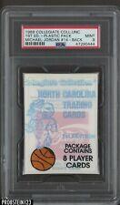 1989 Collegiate UNC Plastic Pack #14 Michael Jordan Back PSA 9