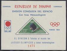 SPACE: PANAMA 1964 Nasa Satellite min sheet PERFORATED  Mi Bl 29 MNH