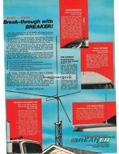 1976 Breaker Mobile and Base CB Radio Antennas Vtg Print Ad
