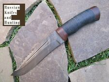 N-64 Combat Outdoor Fishing Hunting knife Zlatoust Russian Damask steel 62 HRC