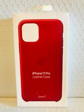Genuine Apple - iPhone 11 Pro Leather Case - (PRODUCT)RED  BRAND NEW!!