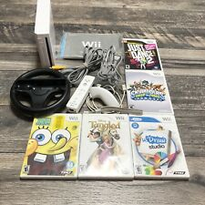 White Nintendo Wii System Lot Wii Console Bundle