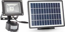 Smartwares Outdoor Solar Security Floodlight With PIR Sensor Black Sfl-180-ms
