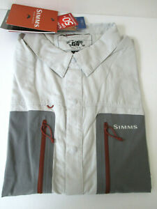 Simms Mens GT TriComp Fishing Shirt Size XL Slim Gray Long Sleeve NEW WITH TAGS