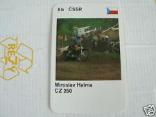 23 MOTO-CROSS 8B CSSR MIROSLAV HALMA CZ 250 MX KWARTET KAART, QUARTETT CARD,