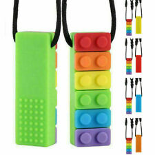 Kids Baby Chewy Necklace Anti Autism ADHD Biting Sensory Chew Teething Toys AAA