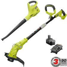 One+ 18-Volt Lithium-Ion String Trimmer/Edger and Blower/Sweeper Combo Kit - 2.6