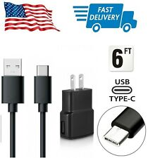 Fast Rapid Wall Charger Plus Extra Long Type C Cable Cord for LG Samsung Phones