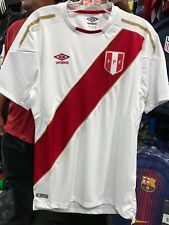 1de0d3dee Peru World Cup Home Soccer Jersey Size M Authentic Original White FIFA 2018