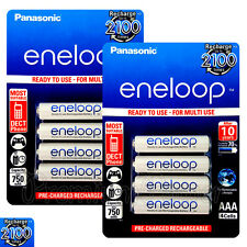 8 x Panasonic Eneloop AAA batteries 750mAh Rechargeable Ni-MH HR03 Phone 4 Pack