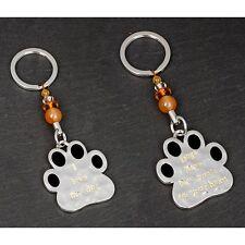 Stamped I Love My Dog Paw Print Key Ring Bag Charm Dog Lovers Gift