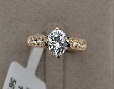 1ct Diamond 18K Gold Overlay on Sterling Silver Engagement Rings