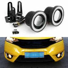 "2pc 3.5"" inch COB LED Fog Light Projector Car White Angel Eye Halo Ring DRL Lamp"