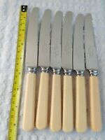 6 Vintage English Table Knives Sheffield Quality