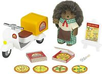 Sylvanian Families Calico Critters Harold Hedgehog Pizza Delivery Set