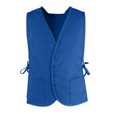 TopTie Button Activity Vest with 2 Pocket Employee Work Apron Vest with Side Tie