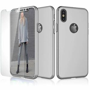 Phone Case For iPhone XR Cover Shockproof Heavy Duty Hard Slim + Screen Glass