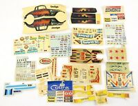 Vintage Model Car Decals / Slot Car Decals 1950's 60's 70's Large Lot Amt Mpc