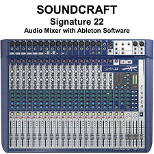 SOUNDCRAFT SIGNATURE 22 FX USB Ableton Live 9 Lite Audio Mixer
