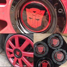 Transformer Autobot Ford 4 x 40-90mm Custom Wheel Centre Hub Cap Sticker Decal