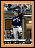 2020 Big League Base Orange #57 Christian Yelich - Milwaukee Brewers
