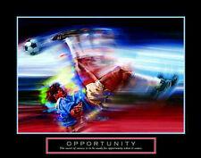 OPPORTUNITY Soccer Art Scissor Kick Motivational Inspirational POSTER Print