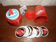 RARE Car Go Fun UNO Card game travel pack red container carry case circular card