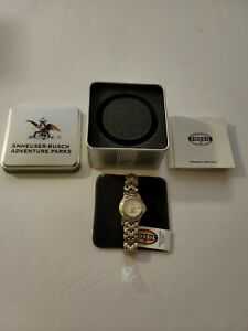Fossil Watch Womens attitude Two Tone Stainless Steel Anheuser Busch  PR-5186
