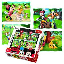 Trefl 4 In 1 35 + 48 + 54 + 70 Piece Girls Kid Mickey Minnie Mouse Jigsaw Puzzle