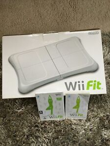 Nintendo Wii fit balance board and Wii Fit Game BOXED Board Never Used VGC