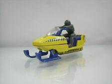 Diecast Matchbox Snowmobile 1998 Yellow Good Condition