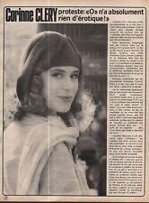 Coupure de presse Clipping 1976 Corinne Cléry  (1 page)