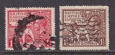 New listing Great Britain Sg 430-431 Vf Used 1924 British Empire Exhibition Cv £26